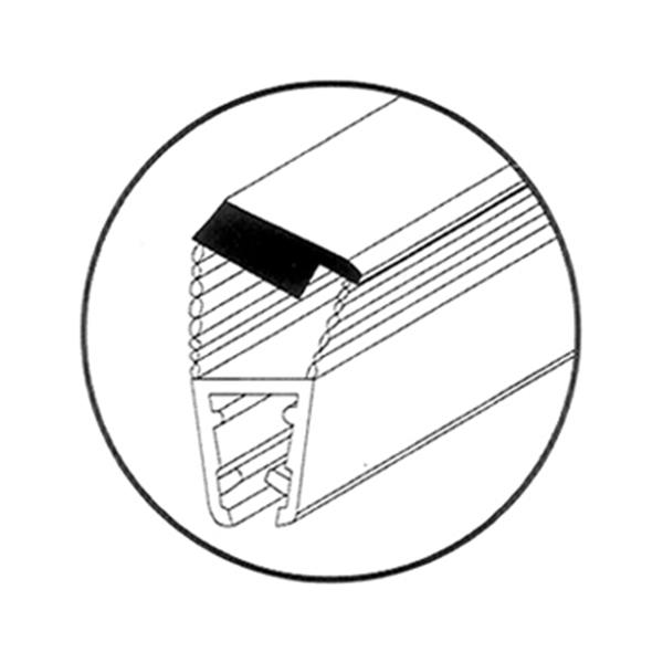 """תמונה של אטם 308C מגנטי פרופיל כסא *135 8מ""""מ"""