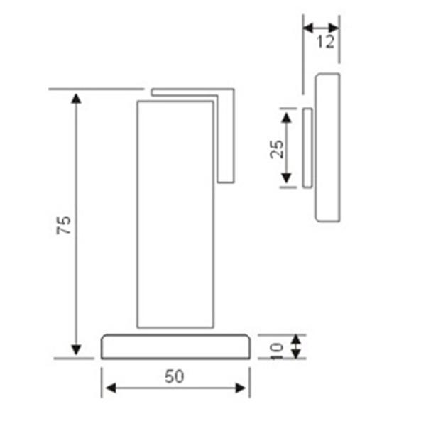תמונה של תפס מגנטי גבוה רצפה-דלת 45